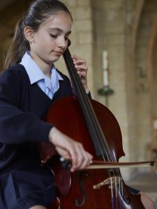 Girl Playing Cello | Wycombe Abbey