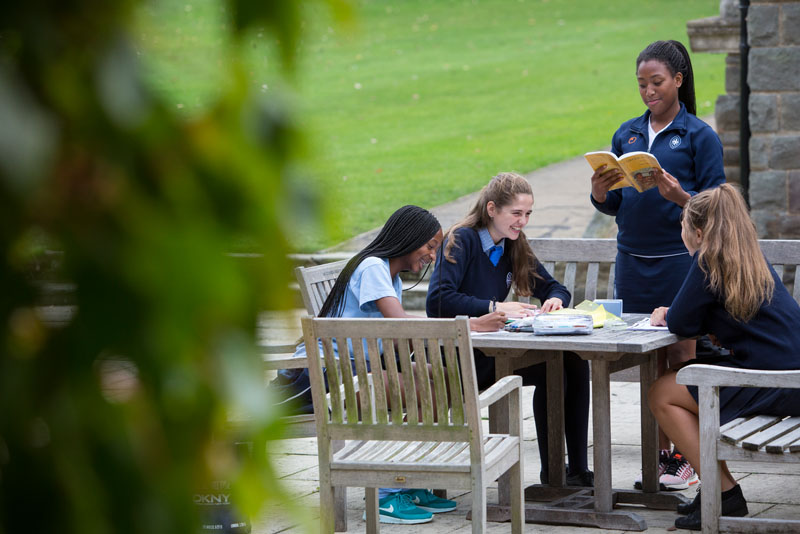 Girls Learning Outside | Wycombe Abbey