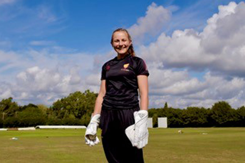 Mia Rogers On Cricket Field | Wycombe Abbey