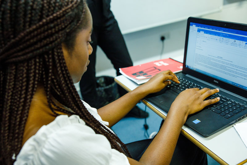 Girl Using Laptop | Wycombe Abbey