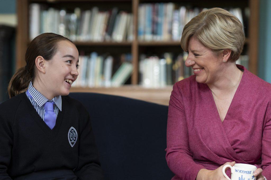 Wycombe Abbey Headmistress with WA Pupil