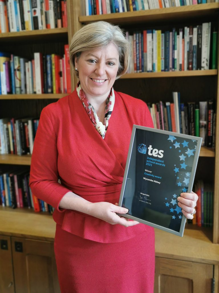 Wycombe Abbey Headmistress with TES Certificate